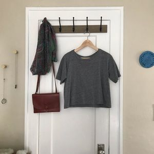 Madewell Cropped Gray T-Shirt Tee Top XS